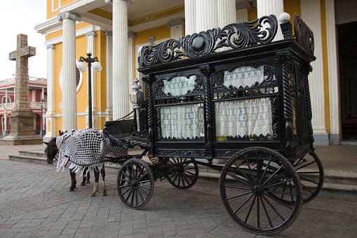 Horse-drawn carriage「horse drawn carriage carrying coffin」:スマホ壁紙(9)
