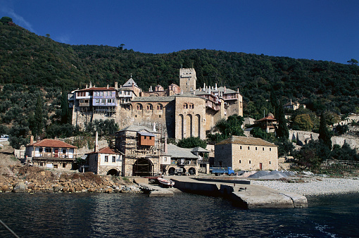 Mt Athos Monastic Republic「Saint Docheiariou Monastery on Mount Athos, Greece」:スマホ壁紙(2)
