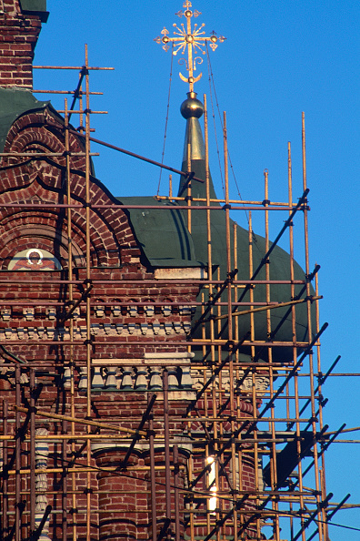 Brick Wall「Scaffolding at St. Basils Cathedral. Moscow, Russia.」:写真・画像(5)[壁紙.com]