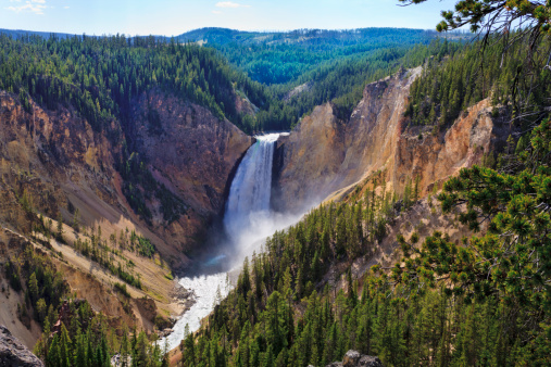 Spraying「Yellowstone Falls: River, Grand Canyon, National Park, Montana MT」:スマホ壁紙(17)