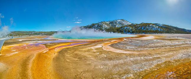 Grand Prismatic Spring「Yellowstone National Park,Wyoming,Montana,usa」:スマホ壁紙(9)