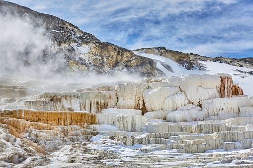 Mammoth Hot Springs「Yellowstone National Park,Wyoming,Montana,usa」:スマホ壁紙(12)