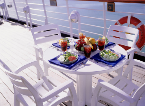 Cruise - Vacation「Table on deck of cruise ship set for lunch for four」:スマホ壁紙(5)