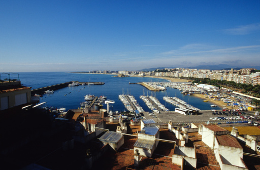 Harbor「Boats in harbour, Blanes, Costa Brava, Catalonia, Spain」:スマホ壁紙(16)