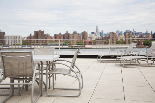Deck Chair「Rooftop Patio Terrace Overlooking New York City」:スマホ壁紙(19)