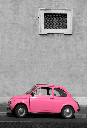 かわいい「小型ホッコクヴィンテージカー、ローマ、イタリア」:スマホ壁紙(4)