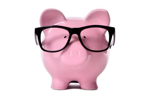 Nerd「Pink piggy bank wearing glasses」:スマホ壁紙(10)