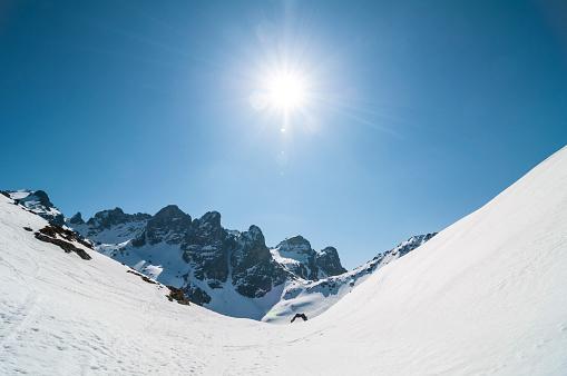 グルノーブル「High mountain lanscape with sun」:スマホ壁紙(2)