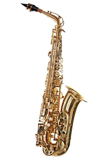 楽器「ロアルトのサクソフォン、露出オーバーは、白で分離」:スマホ壁紙(6)