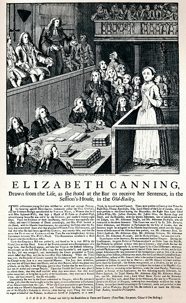 18th Century Style「A broadside of 1754 reporting on the case of Elizabeth Canning, 1915.」:写真・画像(5)[壁紙.com]