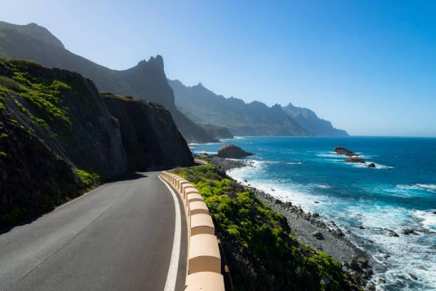 Spain, Canary Islands, Tenerife, coastal road TF-134 towards Taganana:スマホ壁紙(壁紙.com)