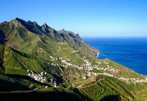 Atlantic Islands「Spain, Canary islands, Tenerife, Anaga mountains, Taganana」:スマホ壁紙(1)