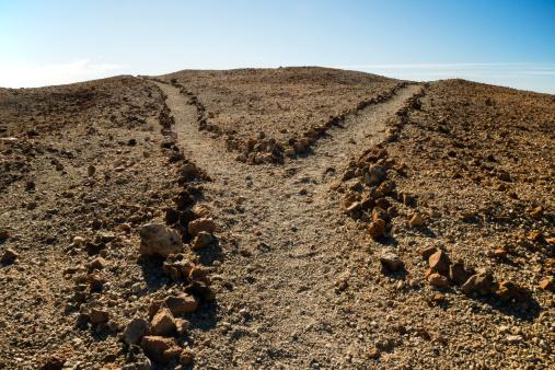 Atlantic Islands「Spain, Canary Islands, Tenerife, Teide National Park, Montana Blanca, junction at hiking path」:スマホ壁紙(3)