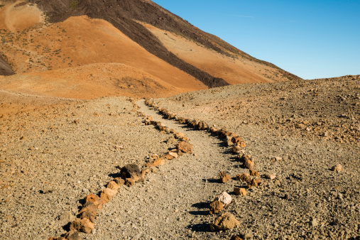 Atlantic Islands「Spain, Canary Islands, Tenerife, Teide National Park, Montana Blanca, hiking path」:スマホ壁紙(0)