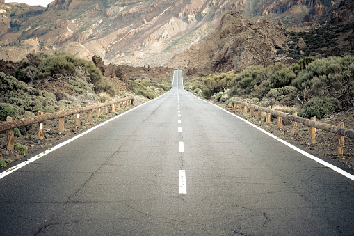 Empty Road「Spain, Canary Islands, Tenerife, Teide National Park, road」:スマホ壁紙(13)