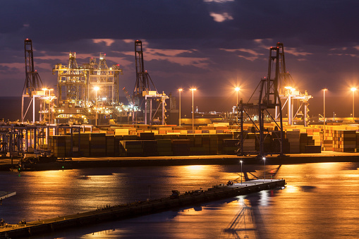 Atlantic Islands「Spain, Canary Islands, Gran Canaria, Las Palmas, Port of Las Palmas」:スマホ壁紙(14)