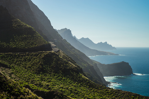 Atlantic Islands「Spain, Canary Islands, Gran Canaria, coastal road GC-200 at the North Coast」:スマホ壁紙(10)