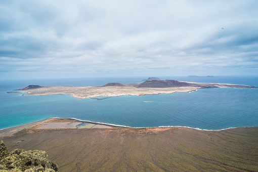La Graciosa - Canary Islands「Spain, Canary Islands, Lanzarote, view to La Graciosa」:スマホ壁紙(3)