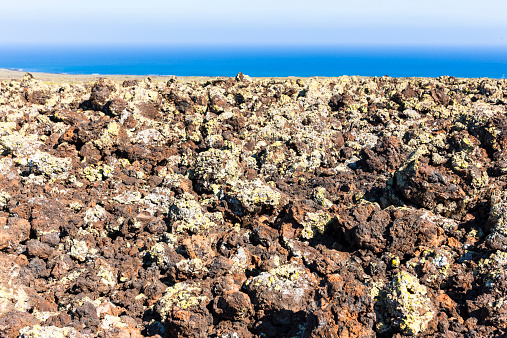 La Graciosa - Canary Islands「Spain, Canary Islands, Lanzarote, Malpais de la Corona, Rope Lava, Lava field from Volcano Corona」:スマホ壁紙(8)