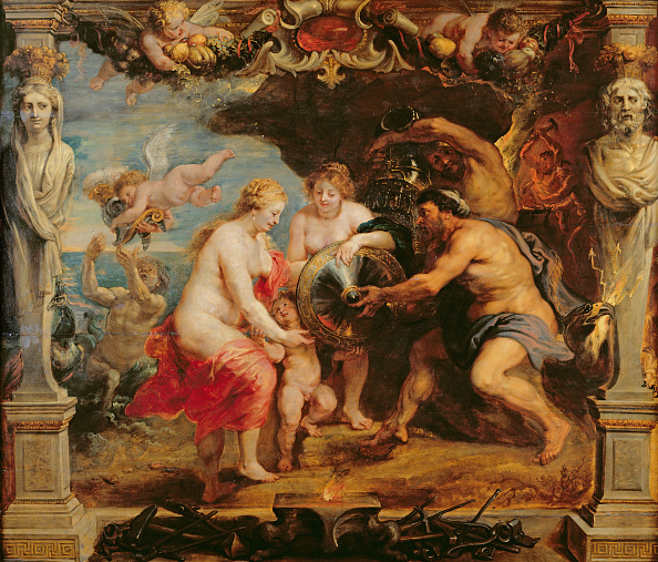 Art Product「Thetis Receiving Armour For Achilles From Hephaestus 1630-1635」:写真・画像(8)[壁紙.com]