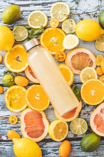 Lemon Soda「Lemonade and slices of citrus fruit」:スマホ壁紙(15)