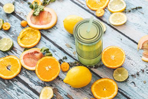 Lemon Soda「Lemonade and slices of citrus fruit」:スマホ壁紙(17)