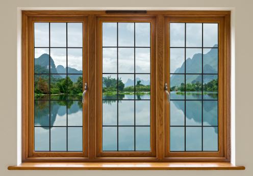 Mahogany「lake view through leaded glass window」:スマホ壁紙(15)
