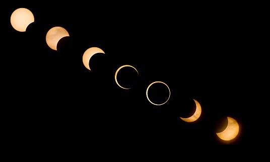 Multiple Exposure「Annular Solar Eclipse, Redding, California」:スマホ壁紙(8)