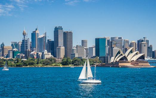 Sydney「sailing Sydney Harbour」:スマホ壁紙(5)