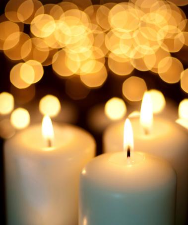 お正月「キャンドルとクリスマスの夜景」:スマホ壁紙(14)