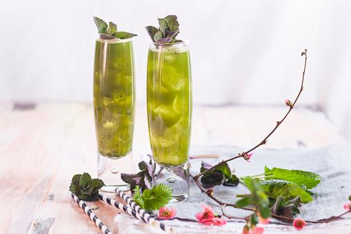 Ice Tea「Matcha Iced Green Tea with mint and lemon balm」:スマホ壁紙(19)