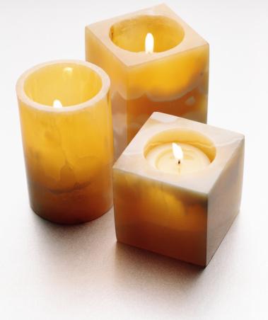 Alabaster「Geometric alabaster holders with candles」:スマホ壁紙(2)