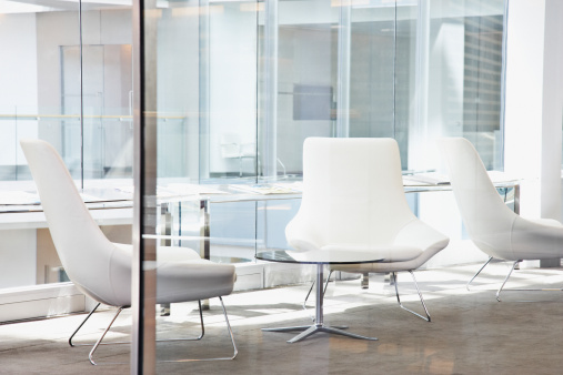 Chair「Chairs in modern office lobby」:スマホ壁紙(2)