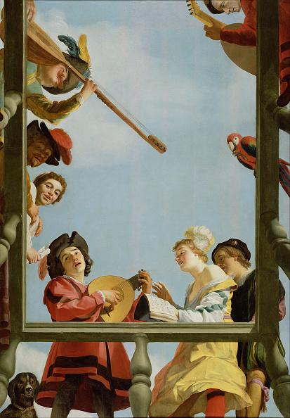 Oil Painting「Musical Group On A Balcony」:写真・画像(15)[壁紙.com]