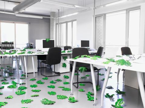 Responsible Business「Leaves lying around modern office」:スマホ壁紙(10)