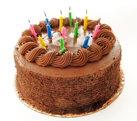Candle「Birthday chocolate cake with colorful candles」:スマホ壁紙(9)