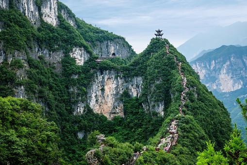 Steep「Chongqing YunYang dragon cylinder scenery」:スマホ壁紙(0)