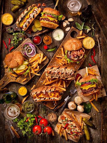 Hot Dog「BBQ Burgers and Hotdog Feast」:スマホ壁紙(9)