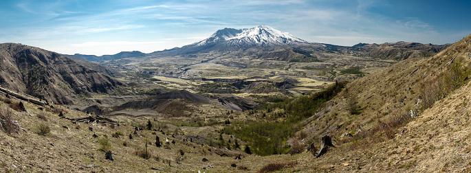 自然美「マウントセントヘレンズ山サミットパノラマに広がる 35 年間火山噴火」:スマホ壁紙(17)
