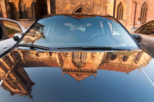 France「Cathedrale Saint-Martin reflection」:スマホ壁紙(5)