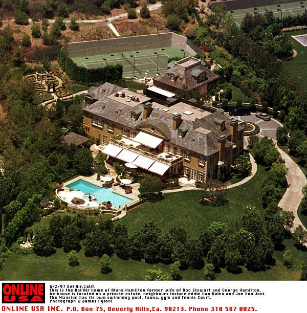 6/2/97 Bel Air, Calif This is the Bel Air home of Alana Hamilton. The house is located on a private :ニュース(壁紙.com)