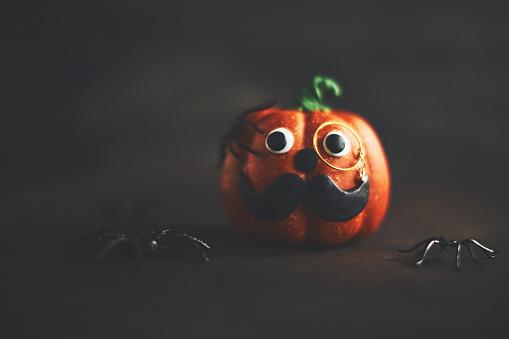 Eyesight「Pumpkin gentleman character with mustache and monocle」:スマホ壁紙(11)