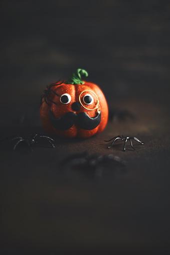 Eyesight「Pumpkin gentleman character with mustache and monocle」:スマホ壁紙(7)