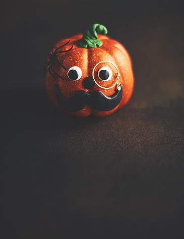 Eyesight「Pumpkin gentleman character with mustache and monocle」:スマホ壁紙(16)