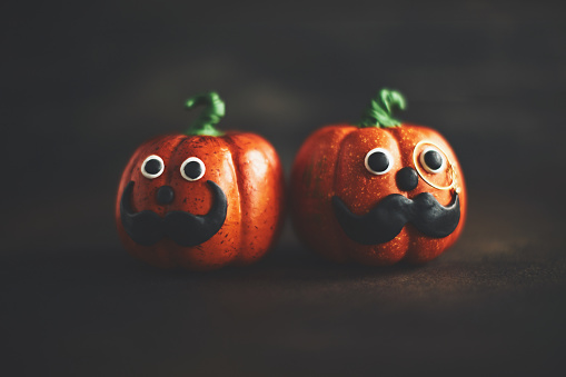 Eyesight「Pumpkin gentleman pair with mustaches」:スマホ壁紙(13)
