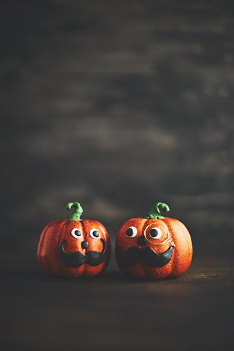 Eyesight「Pumpkin gentleman pair with mustaches」:スマホ壁紙(9)
