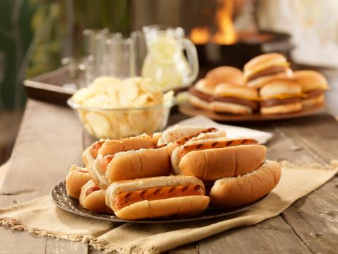 Picnic Table「BBQ Hot Dogs at a Picnic」:スマホ壁紙(14)