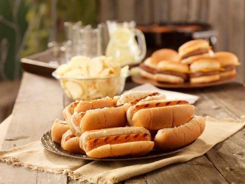 Picnic Table「BBQ Hot Dogs at a Picnic」:スマホ壁紙(0)