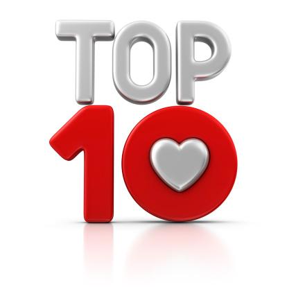 ハート型「love トップ 10」:スマホ壁紙(14)