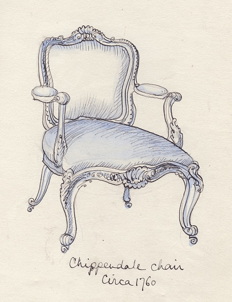 Chair「Chippendale Chair,」:写真・画像(5)[壁紙.com]